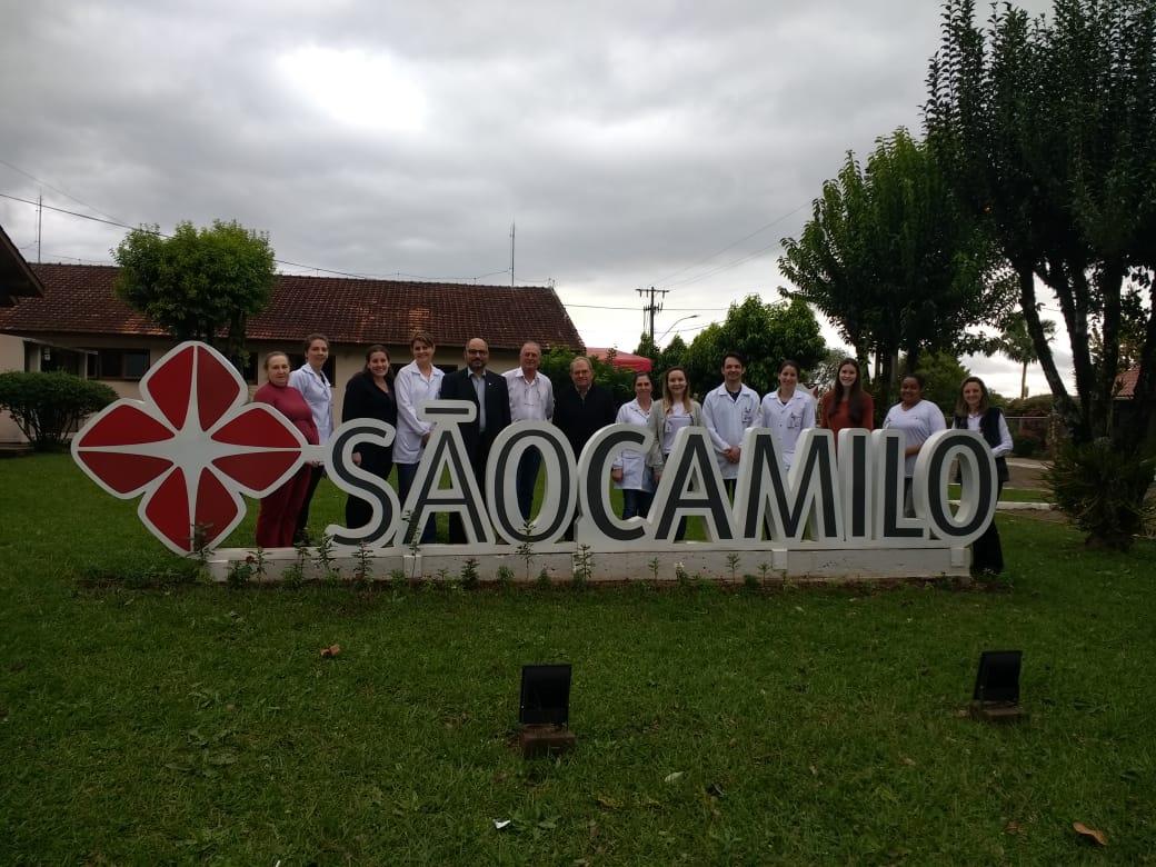 VISITA E 2º ENCONTRO DE FORMAÇÃO PASTORAL DA SAÚDE SÃO CAMILO - HOSPITAL SÃO PEDRO DE ITÁ/SC