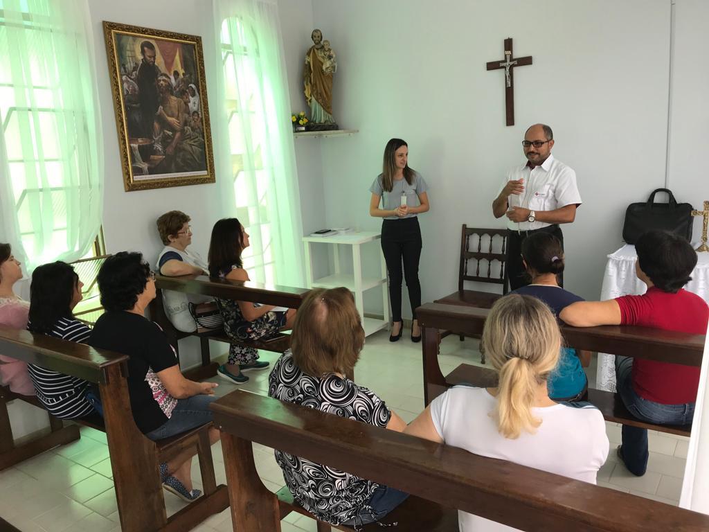 HOSPITAL SÃO PEDRO DE ITÁ/SC  REALIZA REUNIÃO EM PREPARAÇÃO PARA A VISITA DA IMAGEM E RELÍQUIA DE SÃO CAMILO DE LELLIS