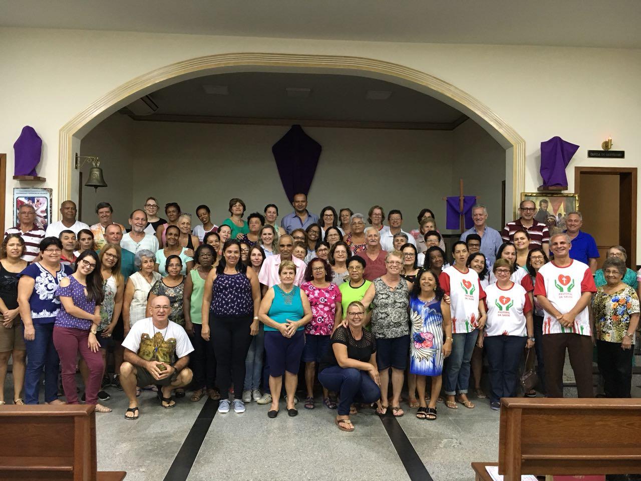 Capacitação de agentes da Pastoral da Saúde na Diocese de Cachoeiro de Itapemirim