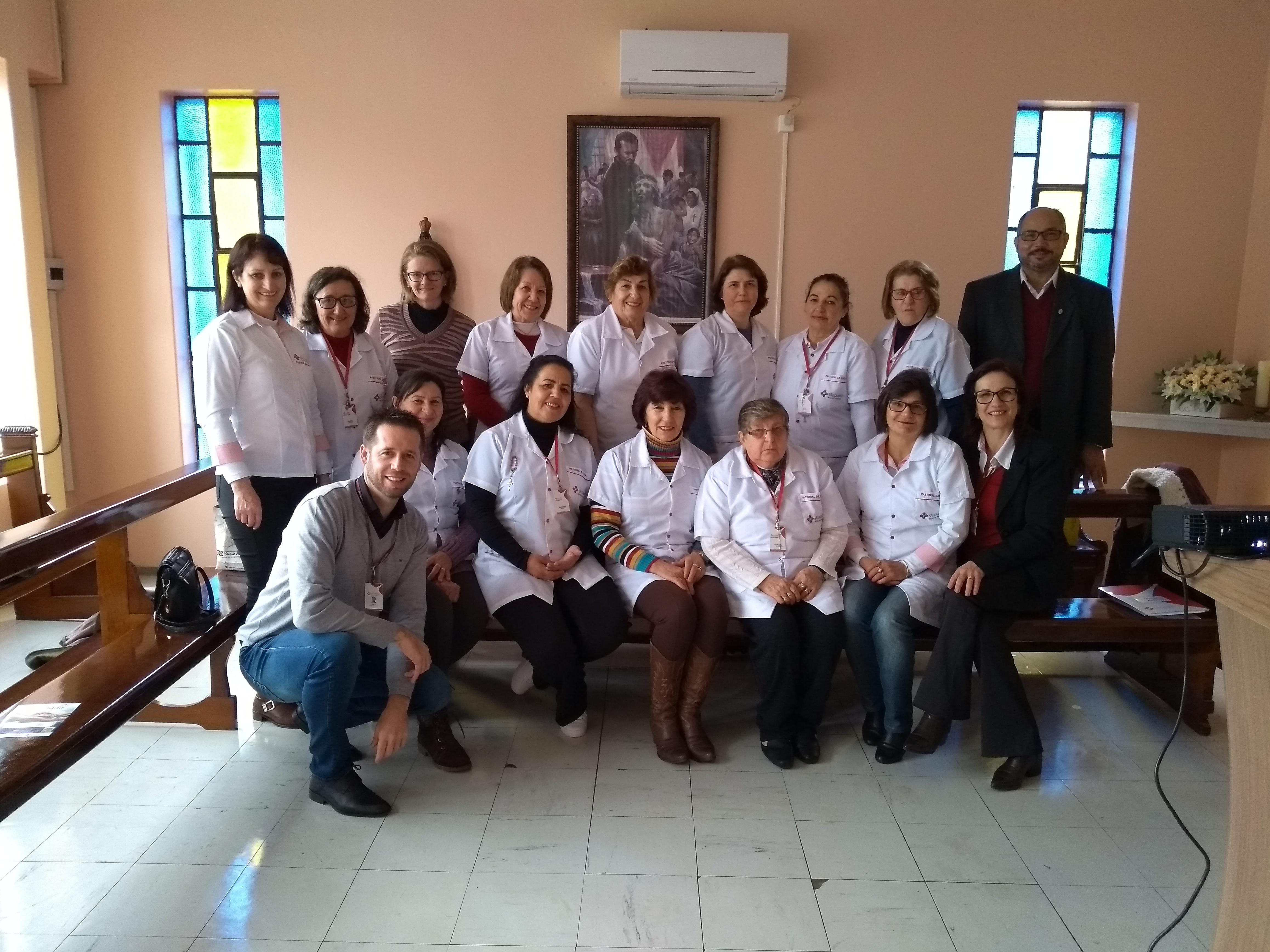 REUNIÃO PARA PREPARAÇÃO DA IX JORNADA DA PASTORAL DA SAÚDE SÃO CAMILO/HOSPITAL SÃO ROQUE SEARA SC